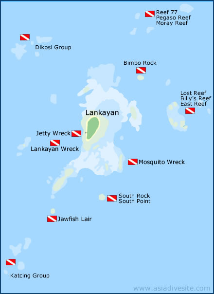 lankayan dive sites